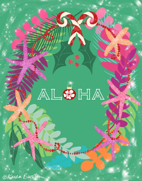Karen Burton - Aloha Wreath
