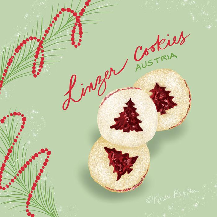 Karen Burton | Austria - Raspberry Linzer Cookies