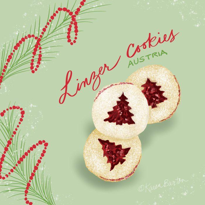 Karen Burton - Austria Raspberry Linzer Cookies
