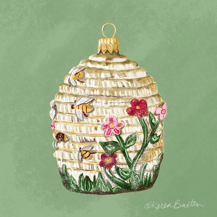 Karen Burton - Beehive Ornament