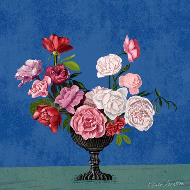 Blue Jasmine Floral | Karen Burton