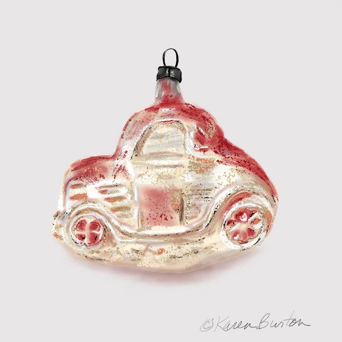 Karen Burton - Antique Car Ornament