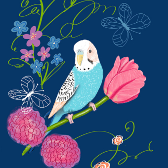 Karen Burton | Parakeet in the Garden