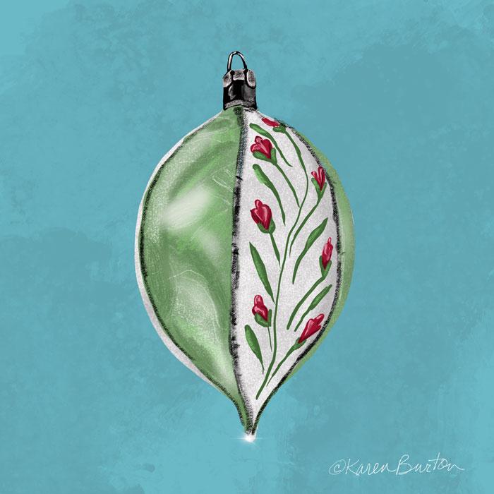 Karen Burton - Floral Vine Ornament