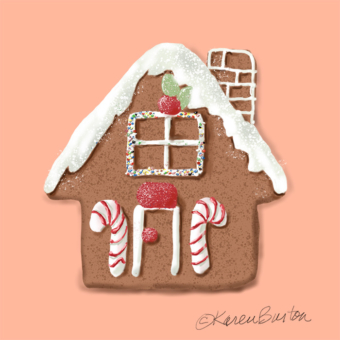Karen Burton | Gingerbread House Cookie