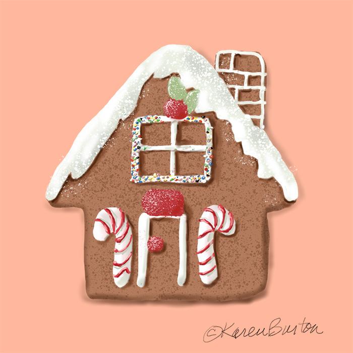 Karen Burton - Gingerbread House