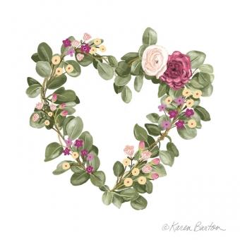 Karen Burton | Floral Heart Wreath