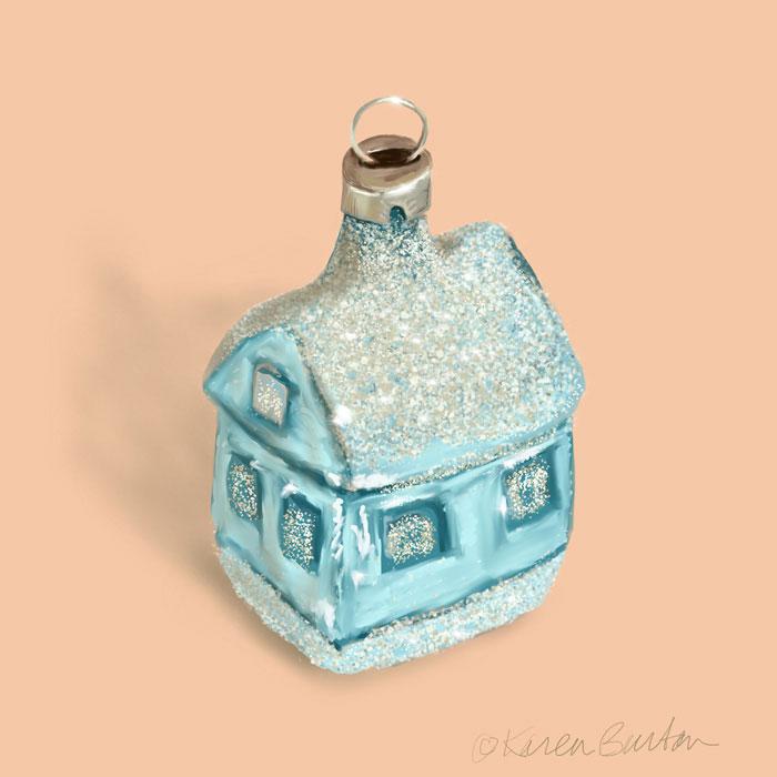 Karen Burton - Antique House Ornament