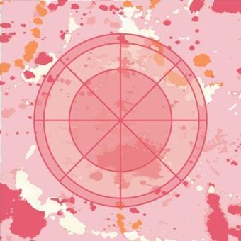 Karen Burton | Bullseye, coral