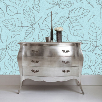 Karen Burton | Floating Leaves, silver Mockup