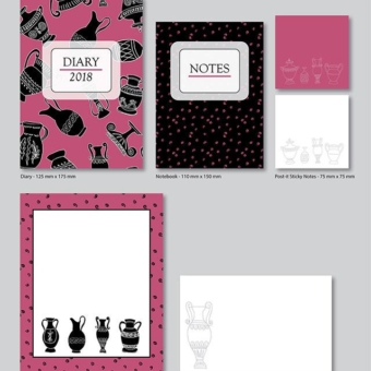 Karen Burton | Pompei Collection Stationery Set Mockup