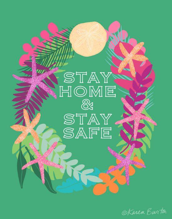 Stay Home Tropical Wreath | Karen Burton