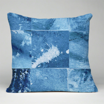Karen Burton | Watercolor Rays Pillow Mockup