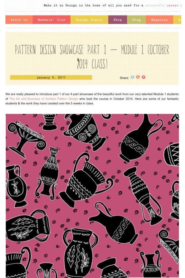 Make It In Design - Pattern Design Showcase, Module 1