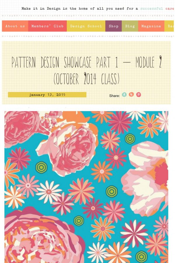 Make It In Design - Pattern Design Showcase, Module 2