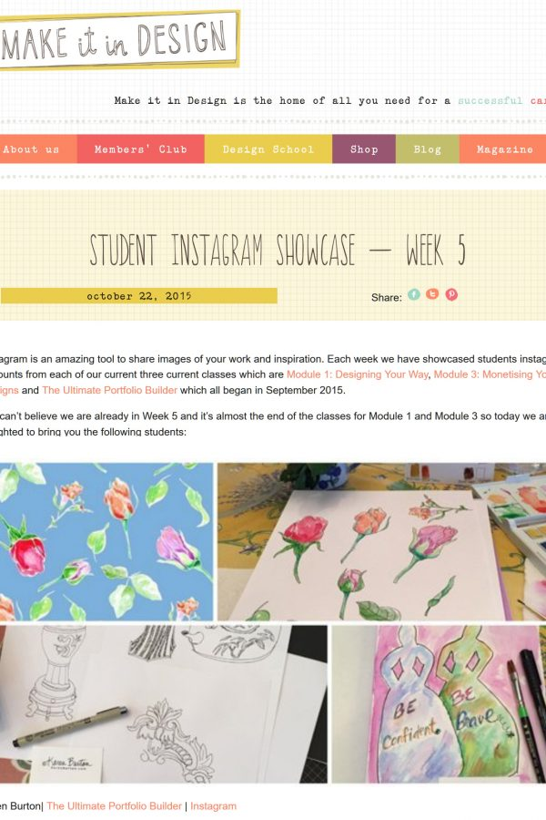 Make It In Design - Student Instagram Showcase