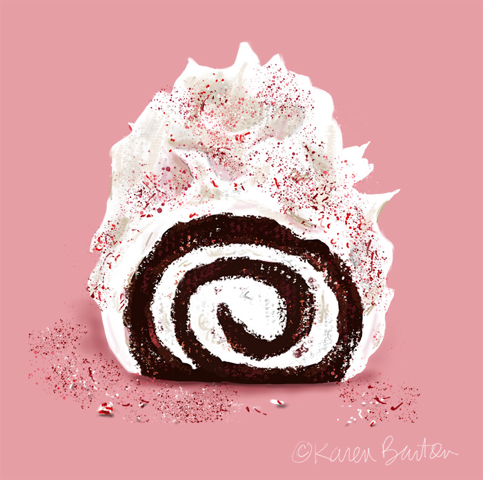 Karen Burton | Peppermint Yule Log