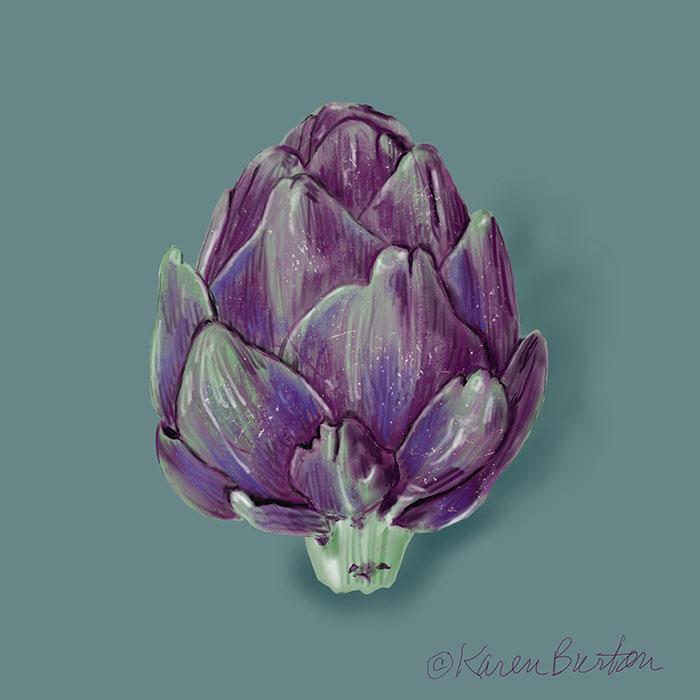 Karen Burton | Purple Artichoke