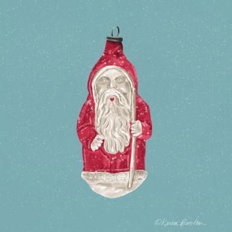 Karen Burton | Santa Heartmouth Ornament