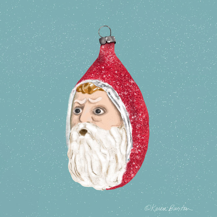 Karen Burton | Santa Oh Ornament