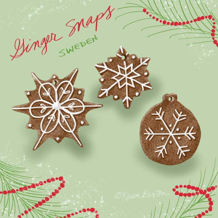 Karen Burton - Sweden Ginger Snap Cookies