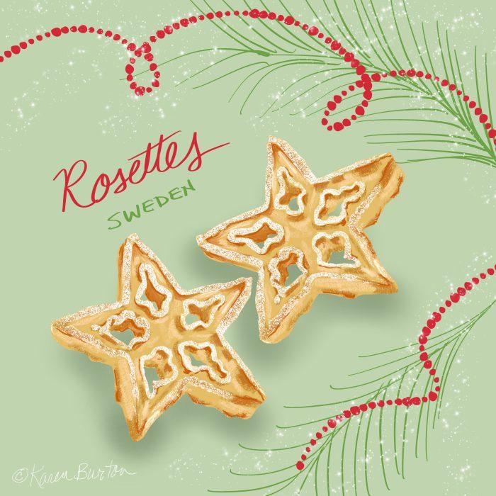 Karen Burton - Sweden Rosette Cookies