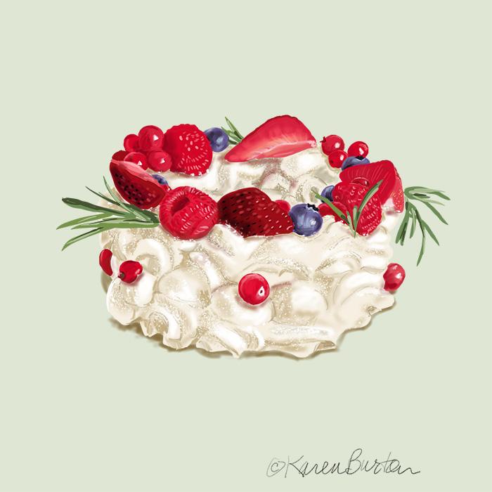Karen Burton | Wreath Pavlova