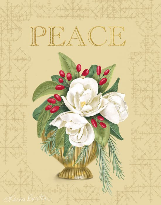 Karen Burton | Peace Christmas Bouquet