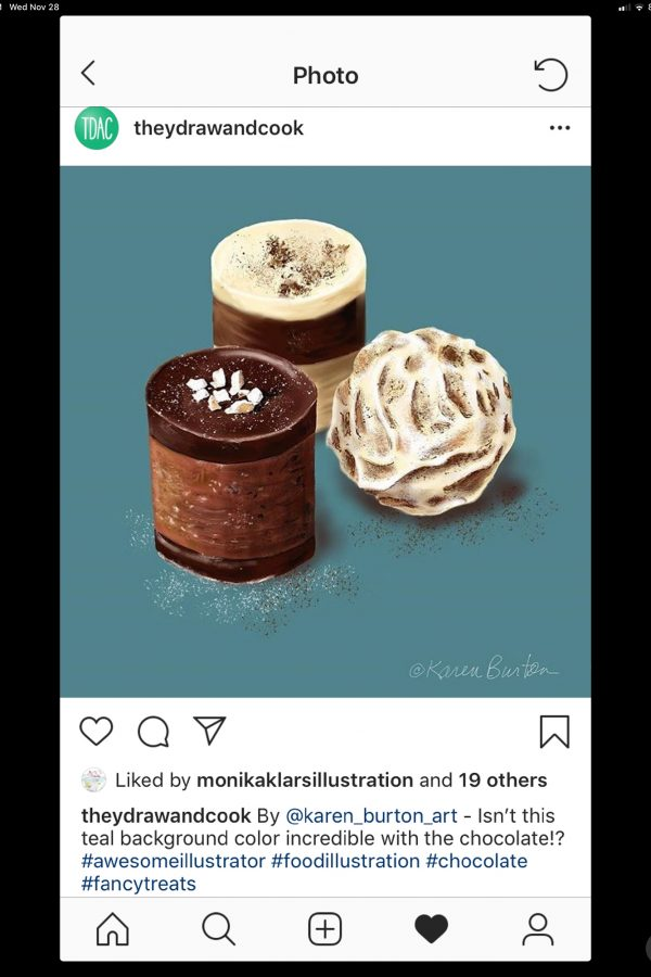 They Draw and Cook - Instagram Feature (Three Chocolates)